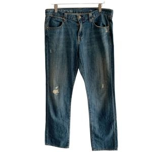 J. Crew Vintage Slim Jeans Straight Leg Women's Distressed Size 30